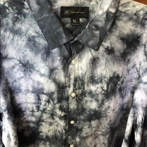 I.N.C button down tye dye